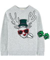 Stella McCartney Kids Sweatshirt aus Bio-Baumwolle mit abnehmbaren Patches, mit Motiv