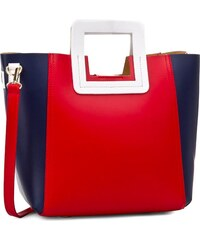 Tasche CREOLE - RBI10127 Rot/Dunkelblau/Weiß