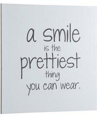 HOME AFFAIRE Bild A smile is…. 40/40 cm weiß