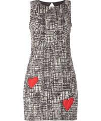 Desigual Kleid mit Herz-Aufnähern
