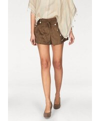 Aniston Damen Short aus Velours-Lederimitat braun 34,36,38,40,42,44