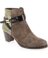 Boots Femme Kanna en Cuir Marron