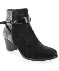Boots Femme Kanna en Cuir Noir