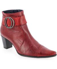 Boots Femme Dorking en Cuir Rouge