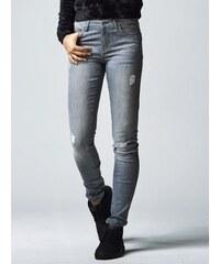 Urban Classics Ladies Ripped Denim Pants Grey TB1362