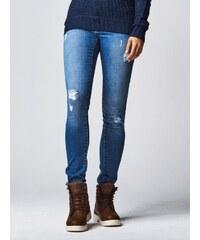 Urban Classics Ladies Ripped Denim Pants Blue Washed TB1362