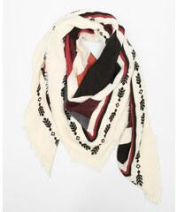 Echarpe carrée ethnique rouge, Femme, Taille 00 -PIMKIE- MODE FEMME