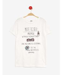 tee-shirt mix d'imprimés écru Jennyfer