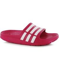 Žabky adidas Duramo Sliders dět. růžová/bílá