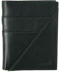 Lagen Pánská černá kožená peněženka Black LM-9176