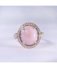 KLENOTA Opálový prsten z růžového stříbra