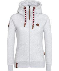 Mikina s kapucí na zip Naketano šedá
