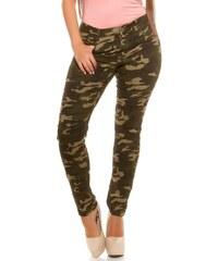 Koucla Khaki maskáčové džíny Plus size