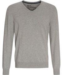 COOL CODE Herren Pullover Sweatshirt V-Ausschnitt grau aus Baumwolle