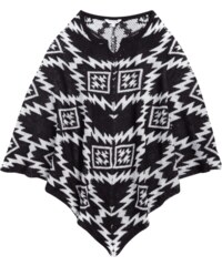Review for Teens Poncho mit Ikatmuster