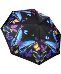 Blooming Brollies Dámský skládací plně automatický deštník Galleria Nature Moonlight Butterflies GBFMB