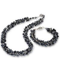 JwL Jewellery Set náhrdelník s náramkem grafitový JL0074