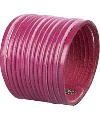Wildskin Kožený náramek Stripes Aubergine