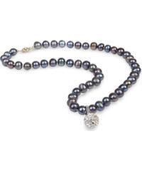JwL Jewellery Náhrdelník z pravých perel kovové barvy JL0083
