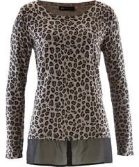 bpc selection Pullover mit Schößchen langarm in braun für Damen von bonprix