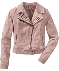 Biker riflová bunda s nýtky, LTB S rosa
