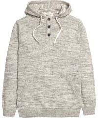 H&M Pletený svetr s kapucí