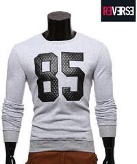 Re-Verse Sweatshirt mit Zahlen-Aufnäher im Steppdesign - S