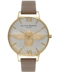 Montre Olivia Burton Moulded Bee - Taupe, Gold and Silver