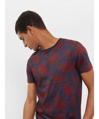 Ted Baker T-Shirt mit floralem Print Dunkelorange