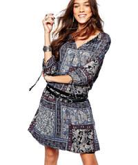 Esprit strakaté lehké šaty s rukávy