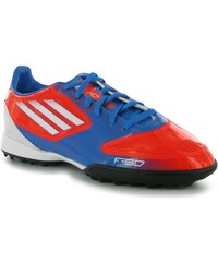 adidas F10 TRX Childrens Astro Turf Trainers Infrared/White