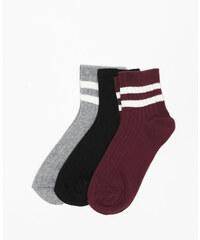 Lot de chaussettes courtes gris, Femme, Taille 00 -PIMKIE- MODE FEMME