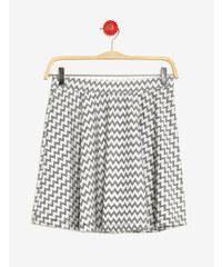jupe motif zigzag avec lurex noire et argentée Jennyfer