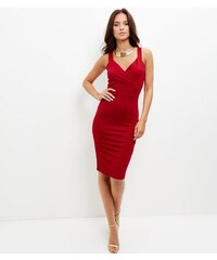 New Look Cameo Rose - Robe moulante rouge cache-cœur