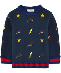 Gucci Embroidered neoprene sweatshirt