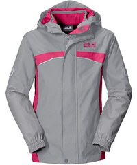 Outdoorjacke TOPAZ 3IN1 GIRLS 2 teilig Jack Wolfskin grau 92,104,116,128,140,152,164,176
