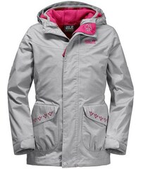 Outdoorjacke SNOWY TRAIL GIRLS 2 teilig Jack Wolfskin grau 92,128,140,152,164,176