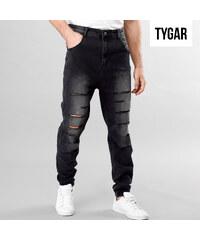 TYGAR Regular Fit-Jeans mit tiefem Schritt & Cut-Outs - 31