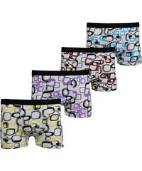 Lesara 4er-Set Boxershorts mit Allover-Print - M