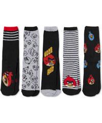 C&A 5 Paar Angry Birds Socken in Schwarz