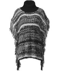 C&A Poncho in Schwarz / weiß