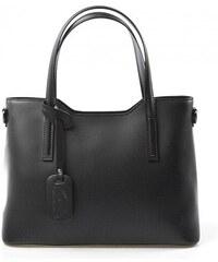 Kožená černá business kabelka Luxury Romina 10120
