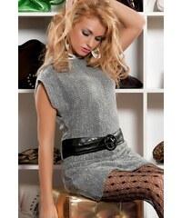 Pletené šaty/dlouhý svetr + pásek