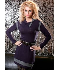 Úpletové šaty - dlouhý svetr