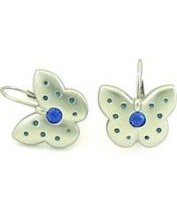 Stylové náušnice motýlí elegance