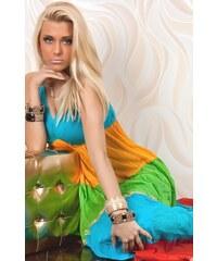 Dlouhé barevné šaty