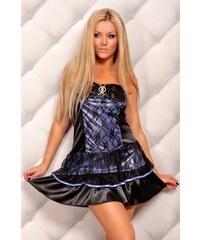 Modro-černé společenské šaty