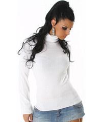 Bílý svetr s rolákem