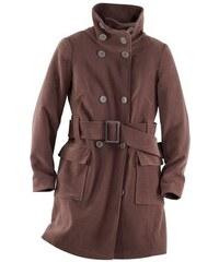 Dámský kabát sametový vzhled
