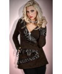 Elegantní svetr s luxusní broží